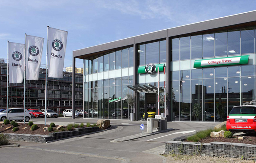 Thomas piron industrie und gewerbehallean for Garage skoda bretigny